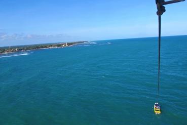 Voo Parasail - Visão de Cima