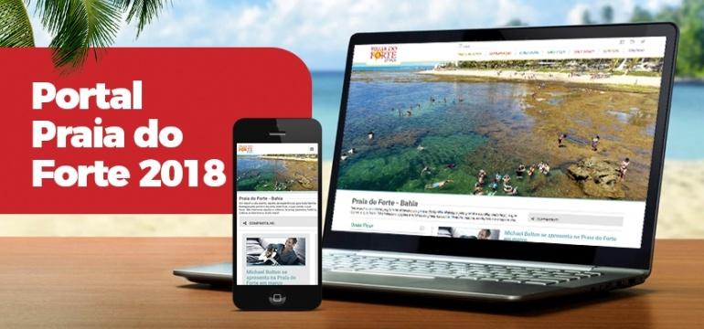 Novo Portal da Praia do Forte agora com Conteúdo Colaborativo