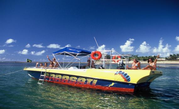 Passeio de Lancha c/ Banana Boat e Mergulho c/ Snorkel | Boat Tour