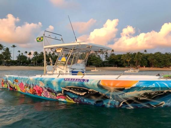Passeio de Lancha c/ Banana Boat e Mergulho // Boat Tour with Banana Boat & Snorkeling