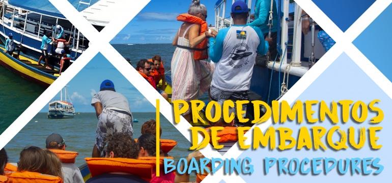 15º Temporada de Observação de Baleias || Procedimentos de Embarque